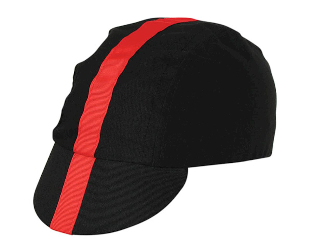 Pace Sportswear Classic Cycling Cap (Black/Red)