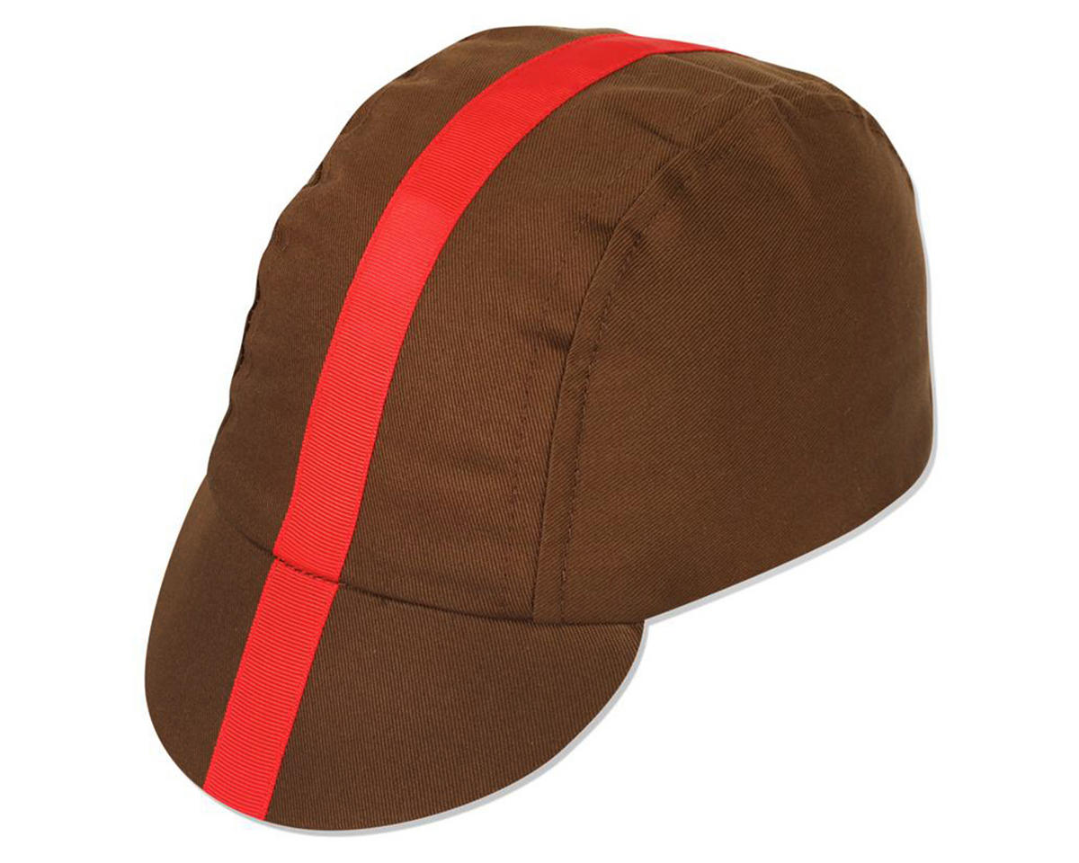Pace Sportswear Classic Cycling Cap (Chocolate With Red Tape)