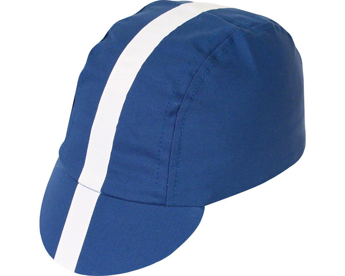 Pace Sportswear Classic Cycling Cap (Royal Blue w/ White Tape) (XL)