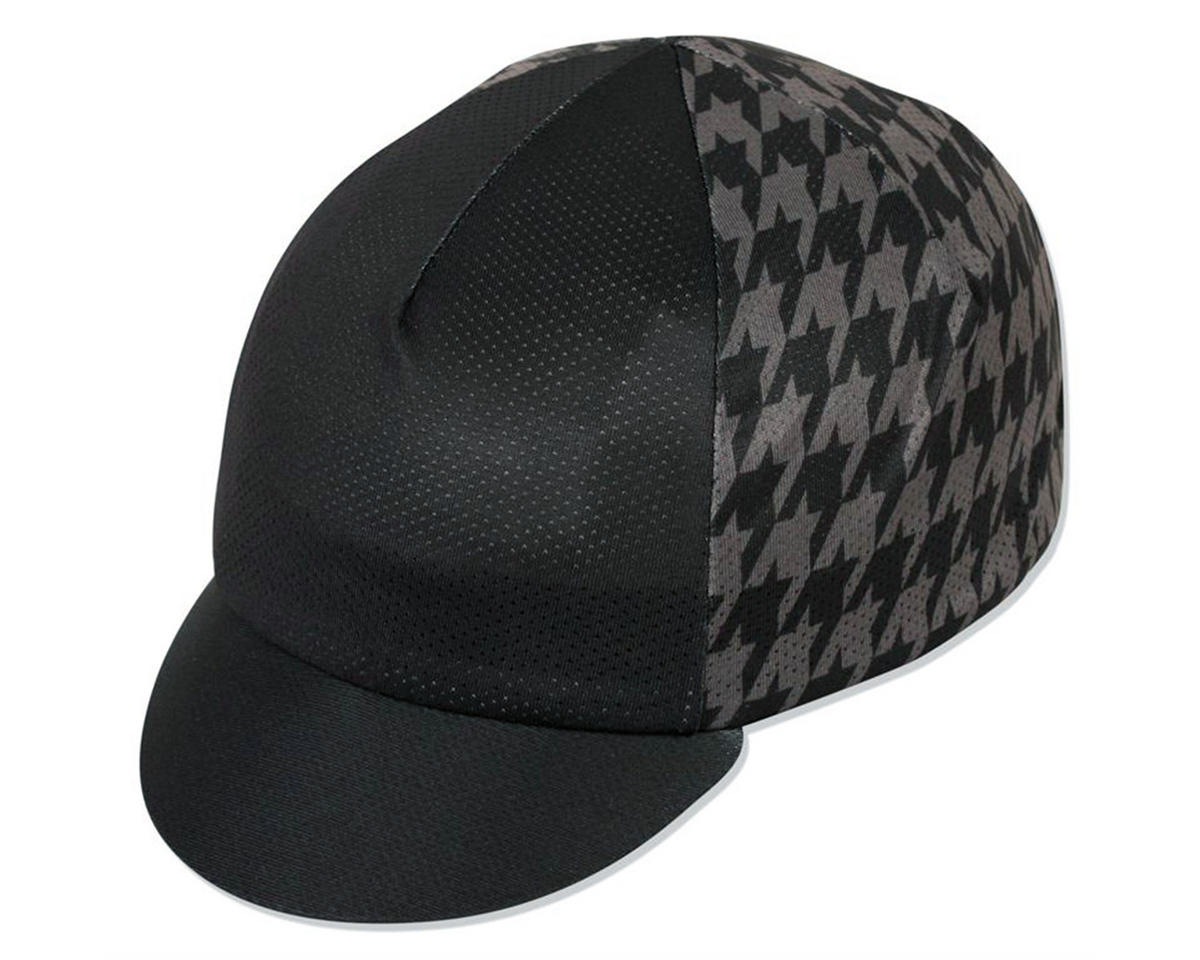 3eb18413c48ac Pace Sportswear Traditional Mini Houndstooth Cycling Cap (Black Gray)