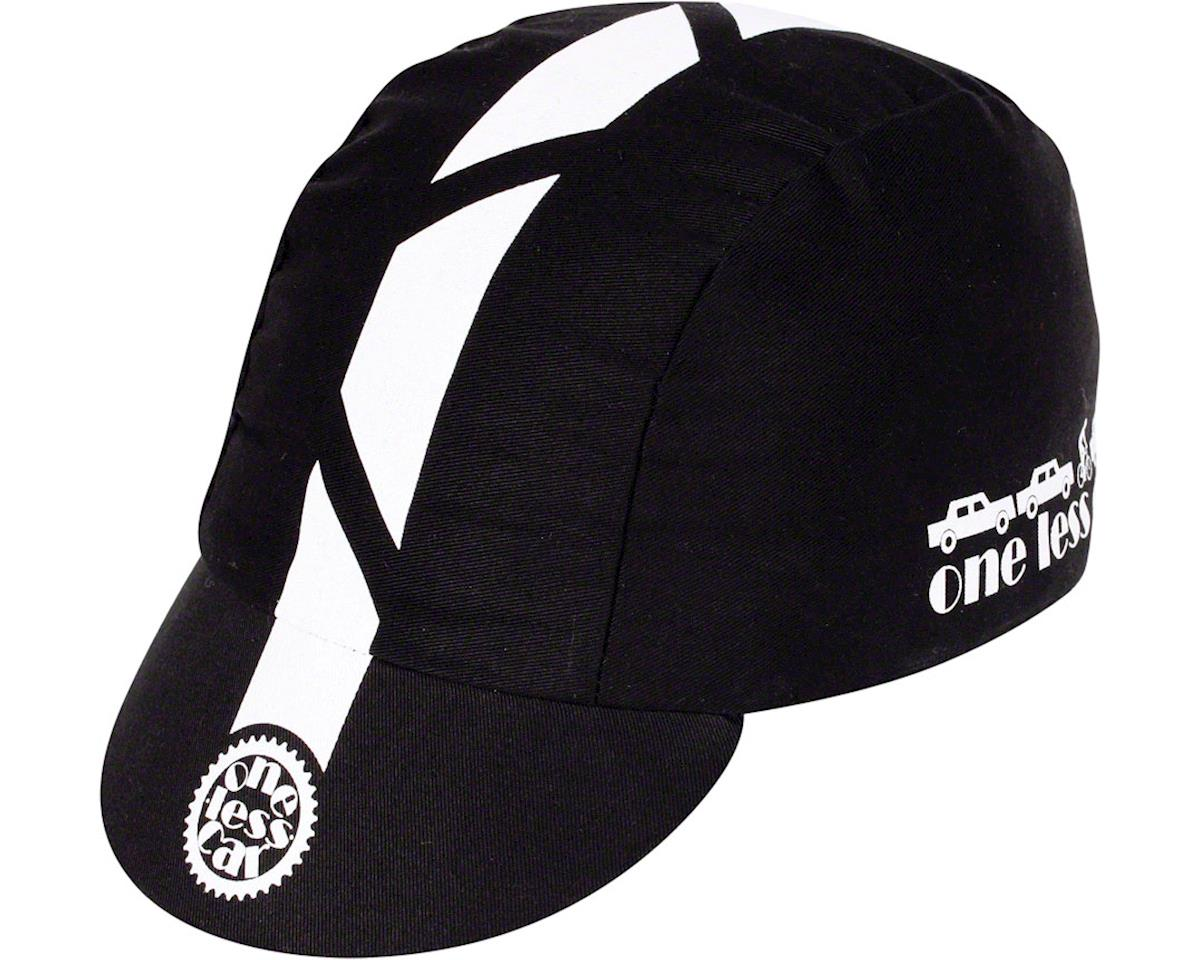 Pace Sportswear Traditional One Less Car Cycling Cap (Black)