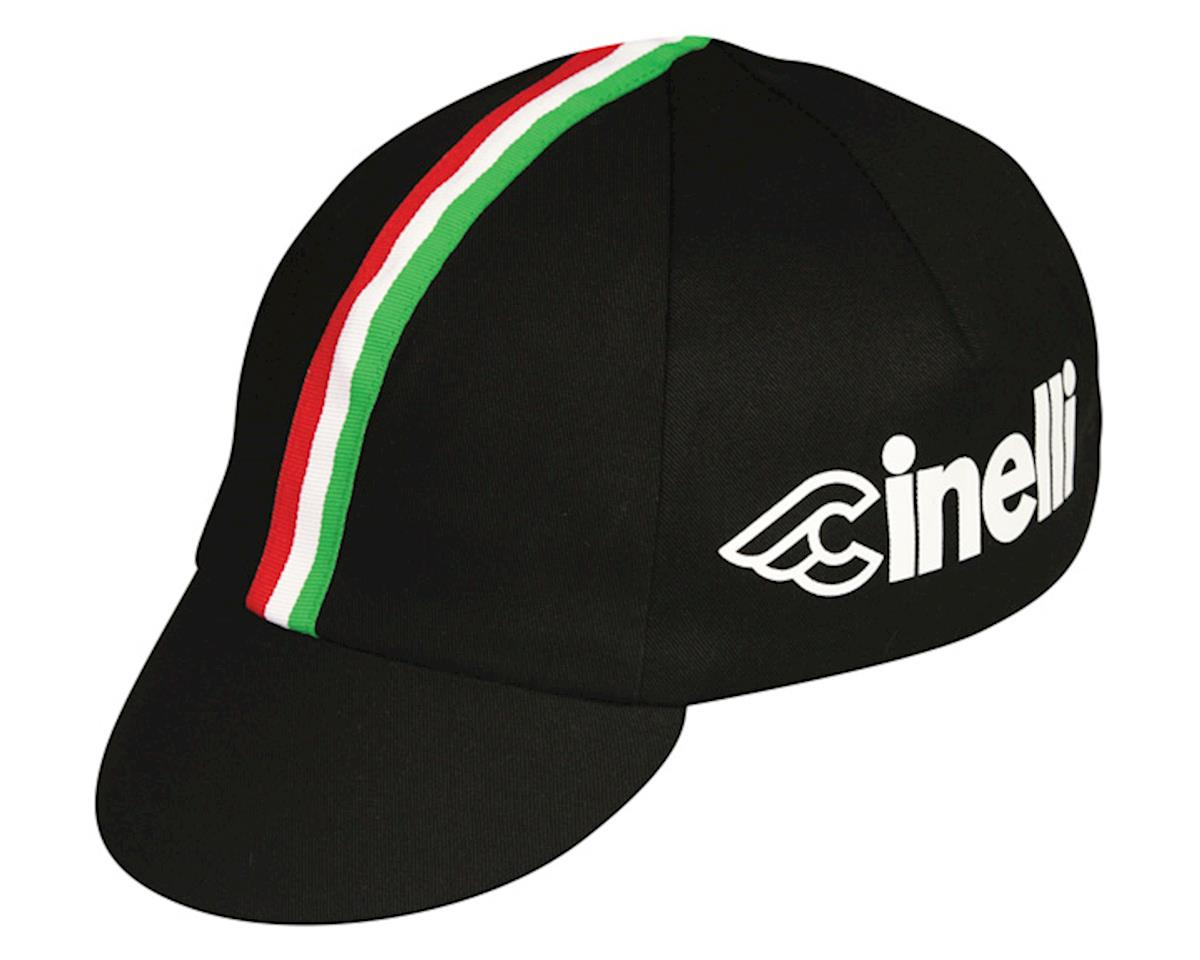 Pace Sportswear Cinelli Cycling Cap (Black/Italian Stripe)