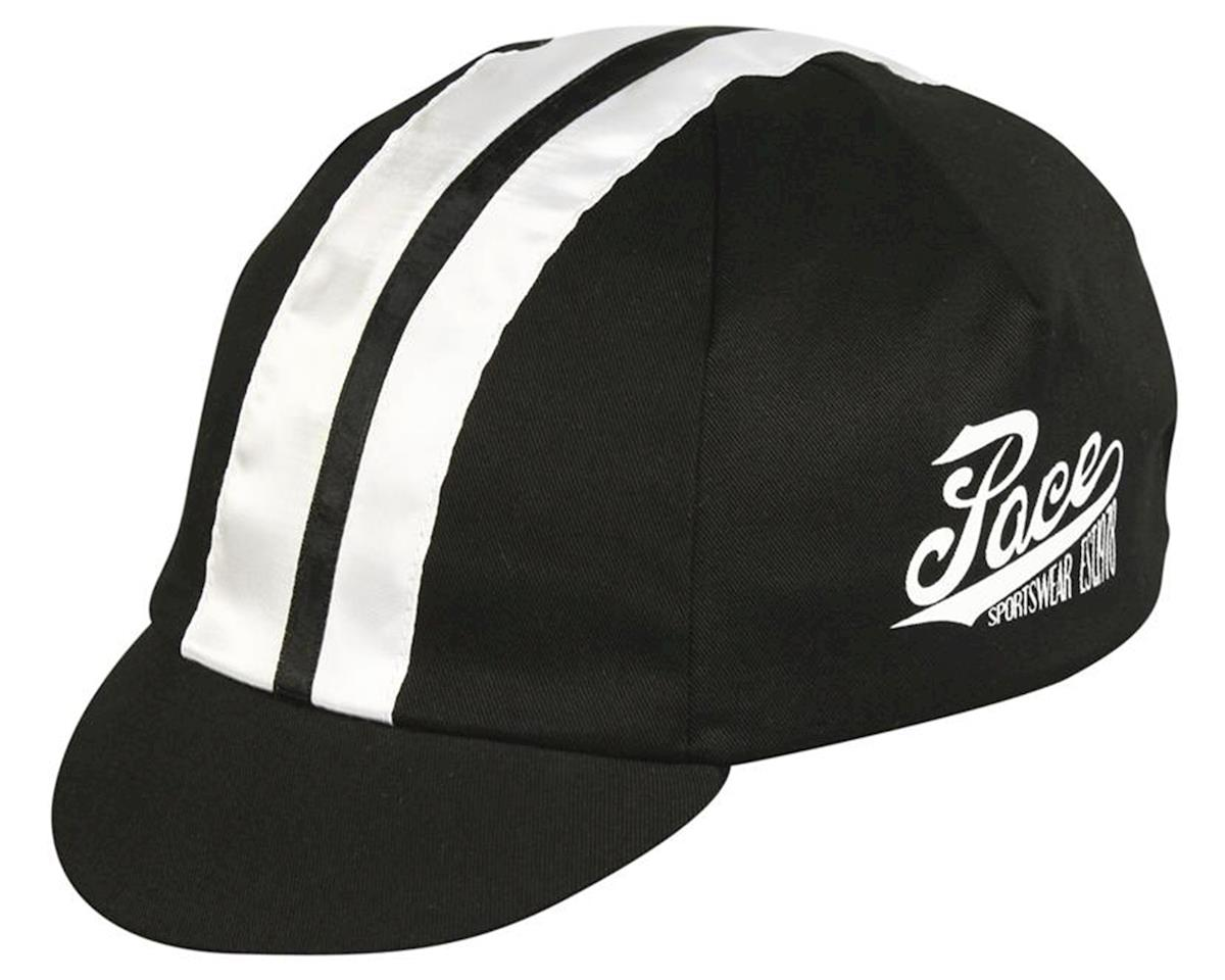 Pace Sportswear Traditional Cycling Cap (Racer Black/White)