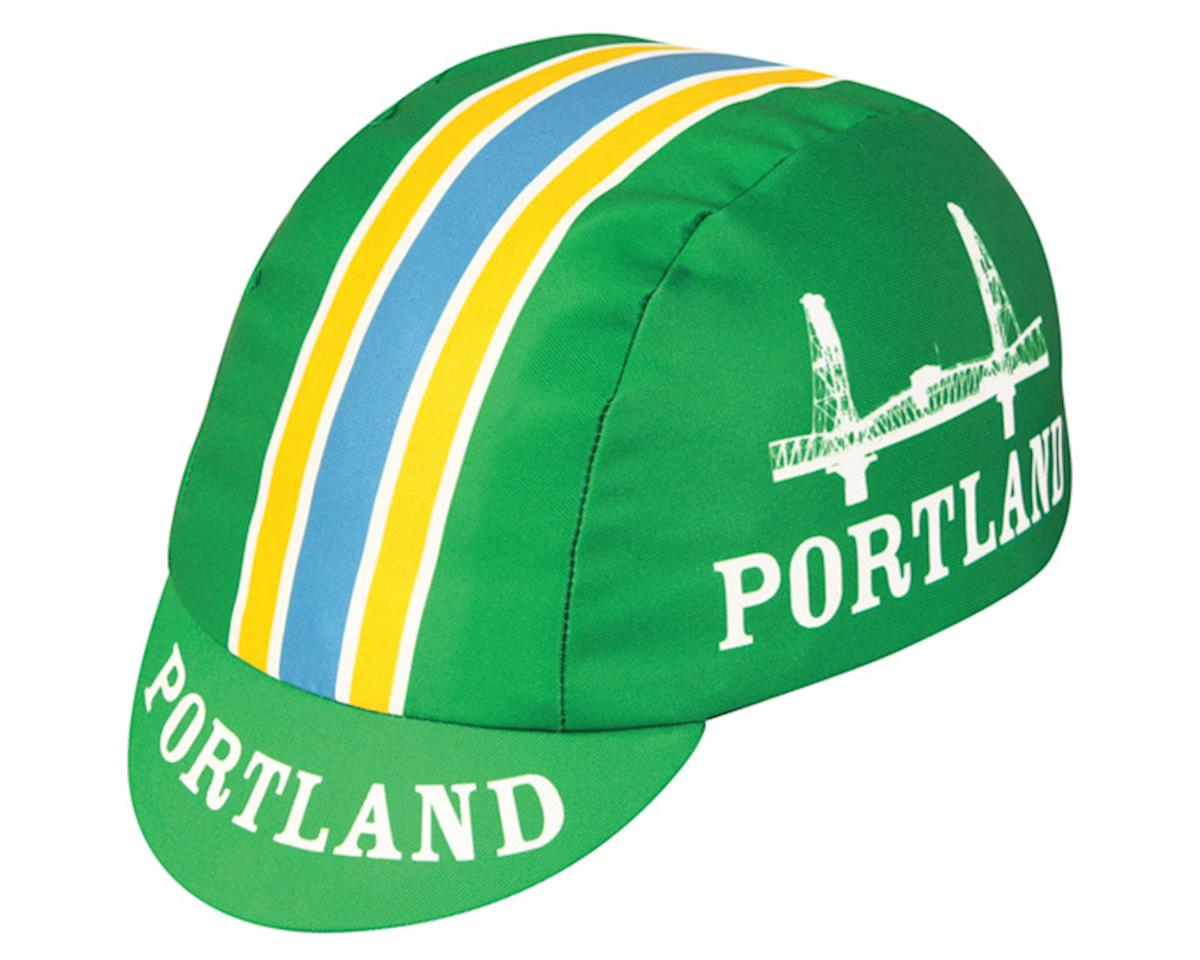 Pace Sportswear Portland Cycling Cap (Green/White/Yellow)