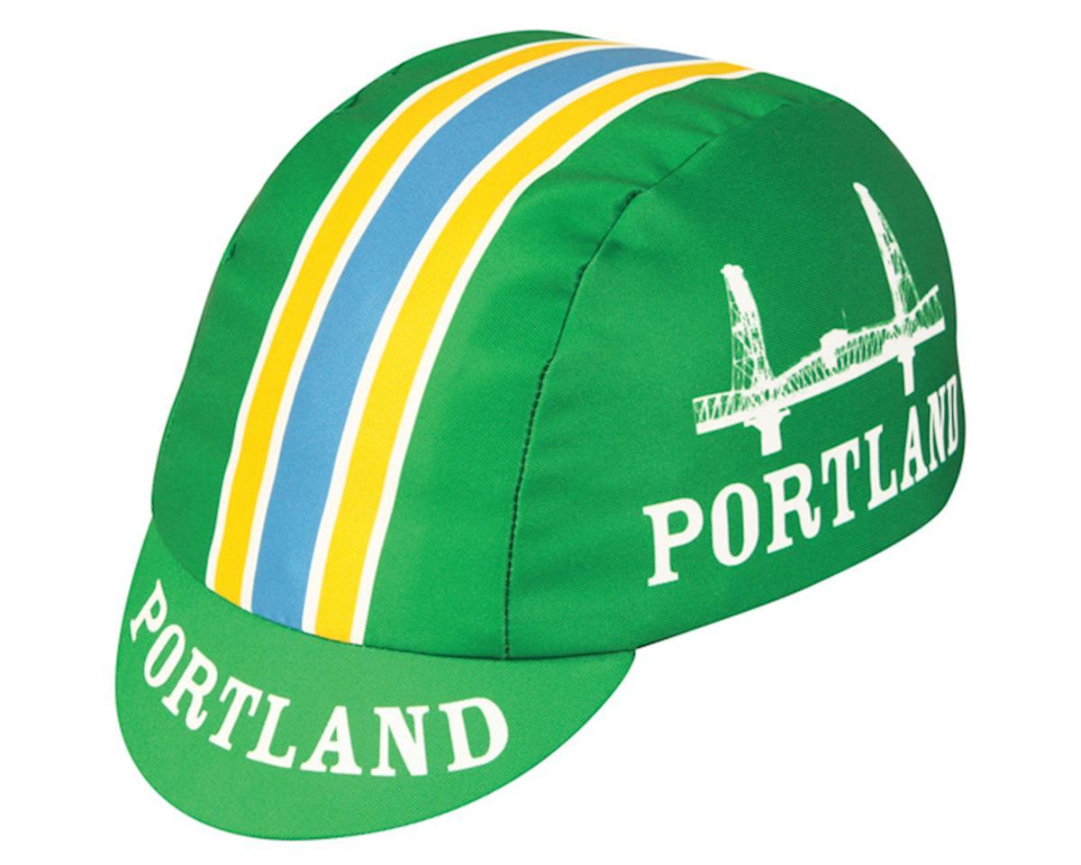 Pace Sportswear Portland Cycling Cap (Green/White/Yellow)
