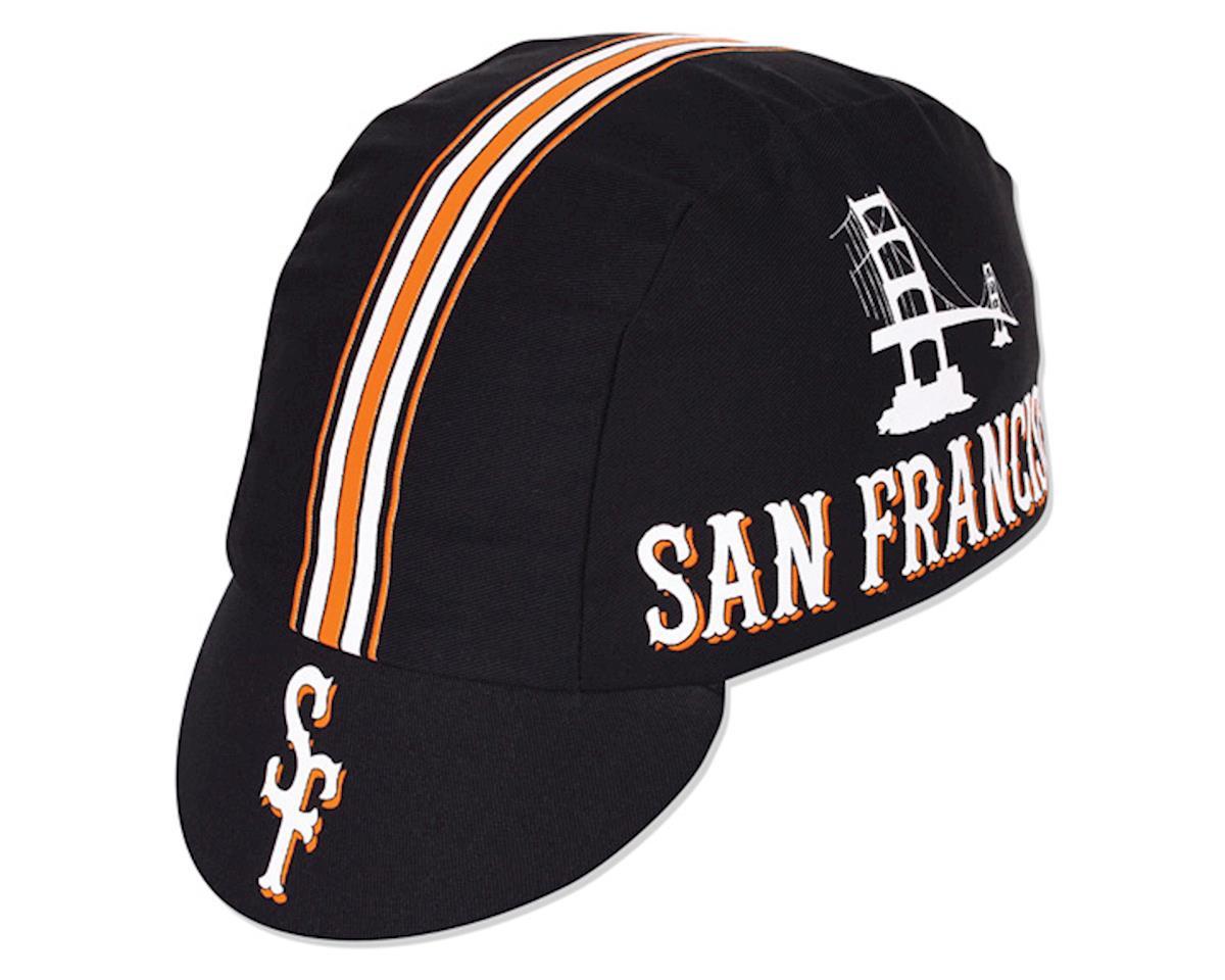 Pace Sportswear San Francisco Cycling Cap (Black/White/Orange)