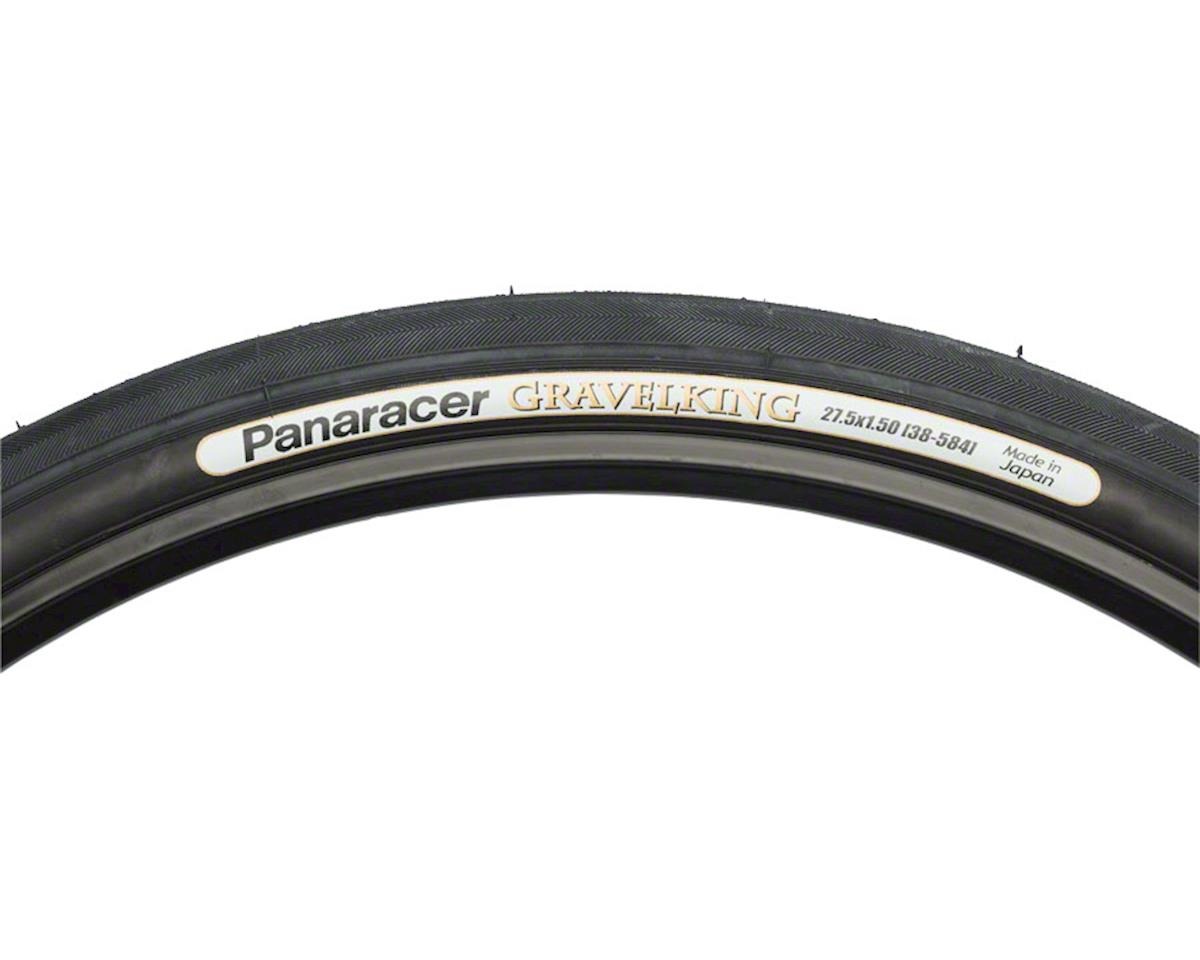 Panaracer Gravelking Tubeless Slick Tread Gravel Tire (Black/Black) (650 x 38)
