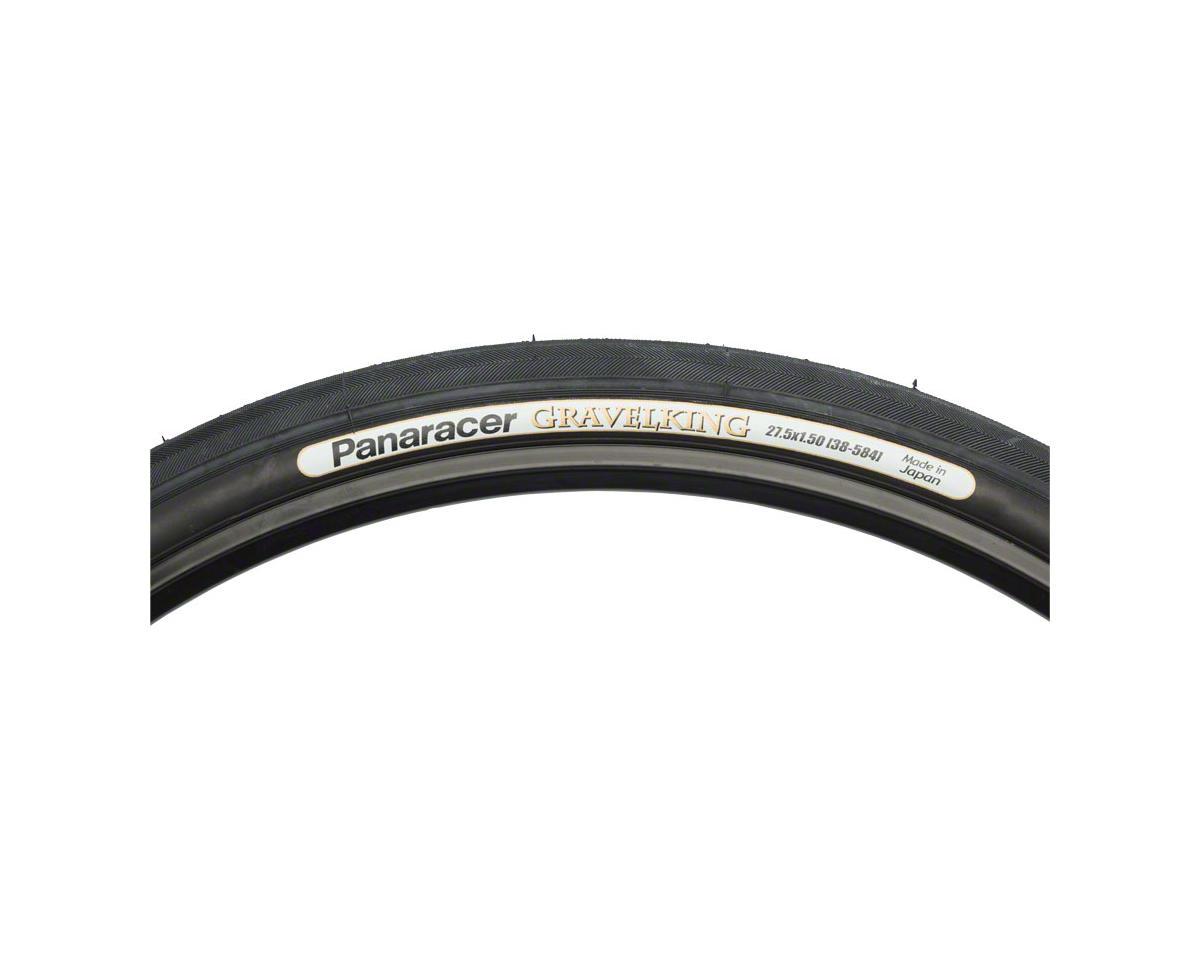 Panaracer Gravelking Tubeless Slick Tread Gravel Tire (Black/Black) (650 x 42)