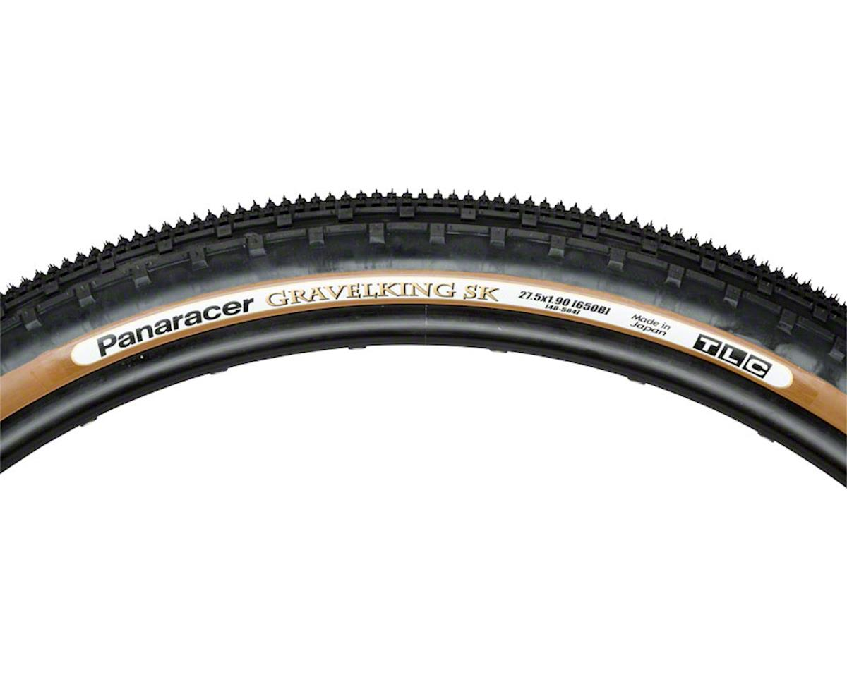 Panaracer GravelKing SK Tire 27.5x1.9 (650B x 48mm) Folding Bead, Brown Sidewall