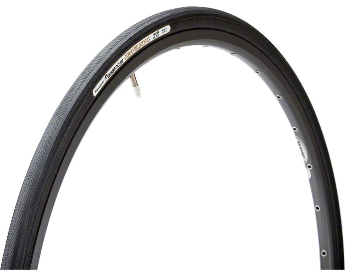 Panaracer Gravelking Tubeless Slick Tread Gravel Tire (Black/Black) (700 x 26)