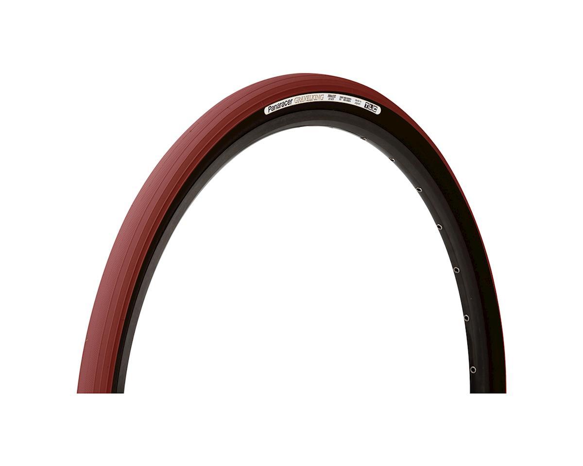 Panaracer Gravelking Tubeless Slick Tread Gravel Tire (Bordeaux/Black)
