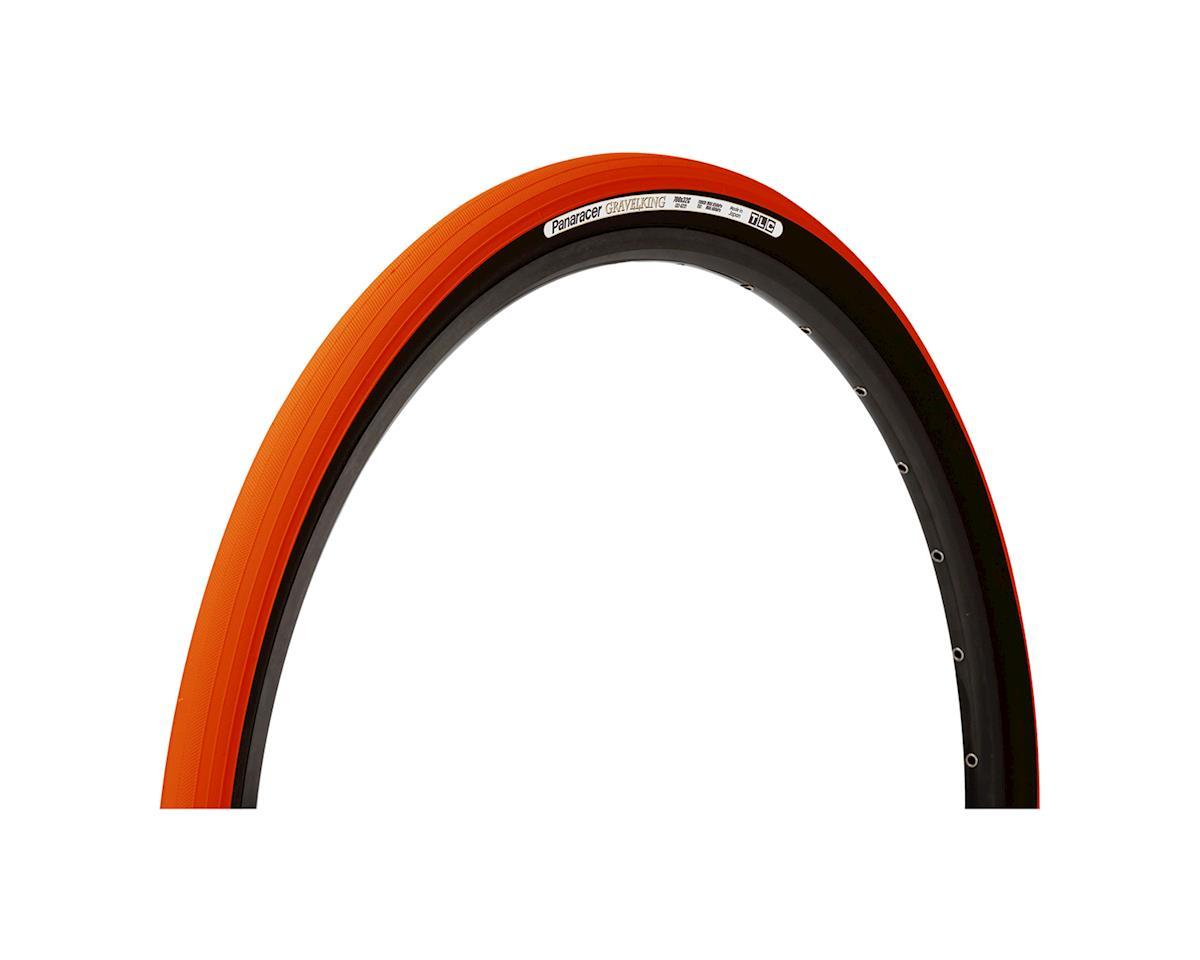 Panaracer Gravelking Tubeless Slick Tread Gravel Tire (Orange/Black)