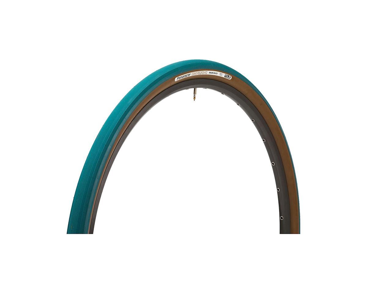 Panaracer Gravelking Tubeless Slick Tread Gravel Tire (Nile Blue/Brown) (700 x 32)
