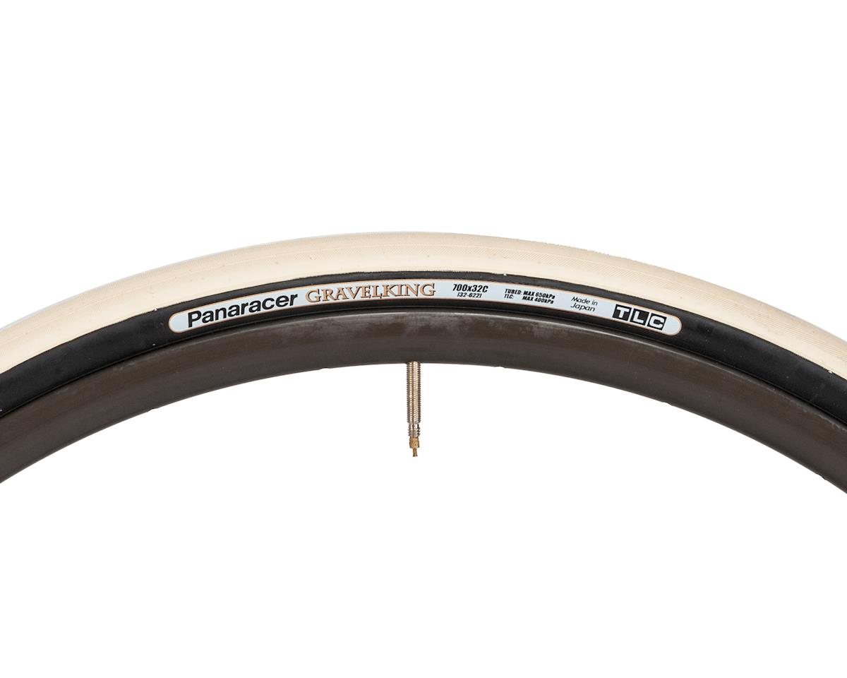 Panaracer Gravelking Tubeless Gravel Tire (Ivory White/Black) (700 x 32)