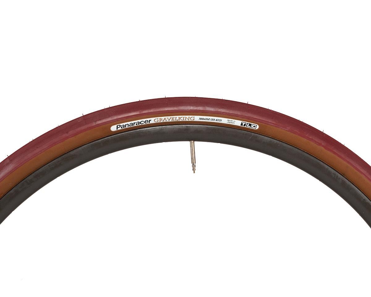 Panaracer Gravelking Tubeless Gravel Tire (Bordeaux/Brown) (700 x 35)