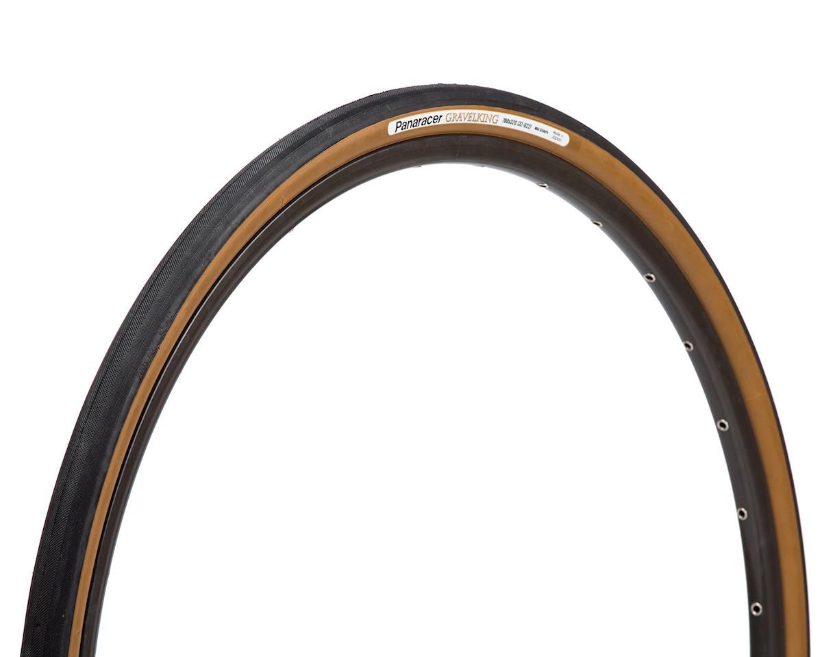 Panaracer Gravelking Tubeless Slick Tread Gravel Tire (Black/Brown) (700 x 35)