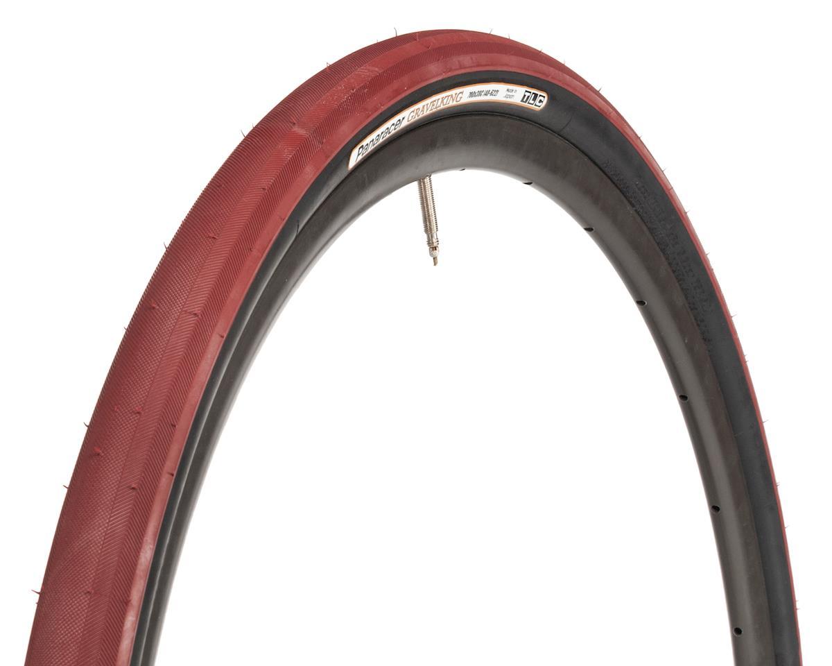 Panaracer Gravelking Tubeless Slick Tread Gravel Tire (Bordeaux/Black) (700 x 38)