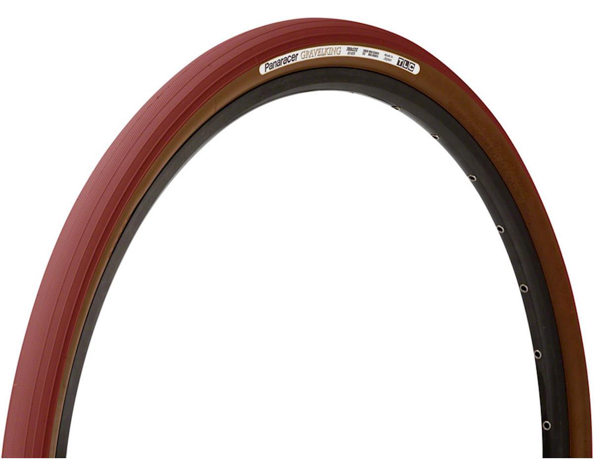 Panaracer Gravelking Tubeless Slick Tread Gravel Tire (Bordeaux/Brown) (700 x 38)