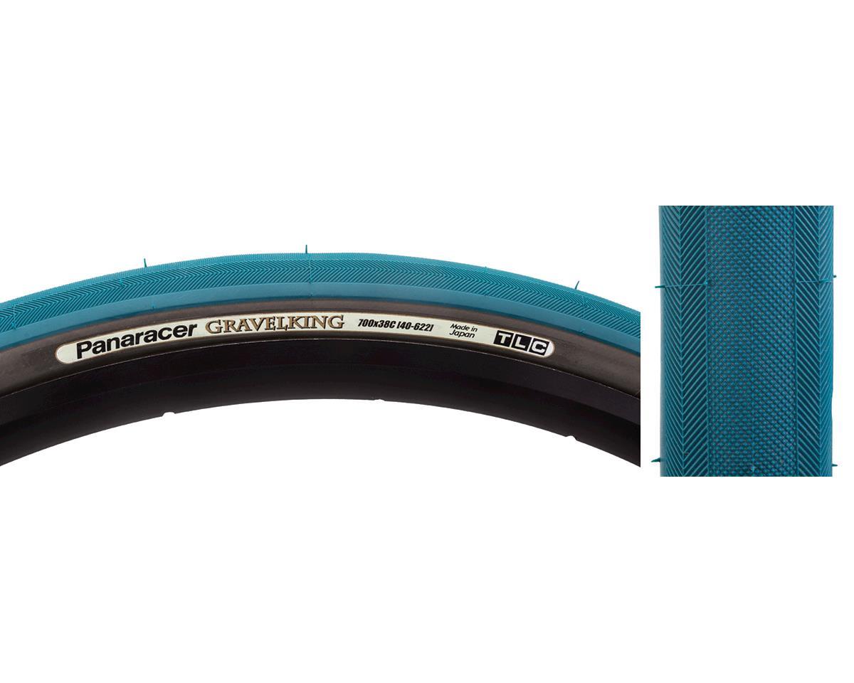 Panaracer Gravelking Tubeless Slick Tread Gravel Tire (Nile Blue/Black) (700 x 38)