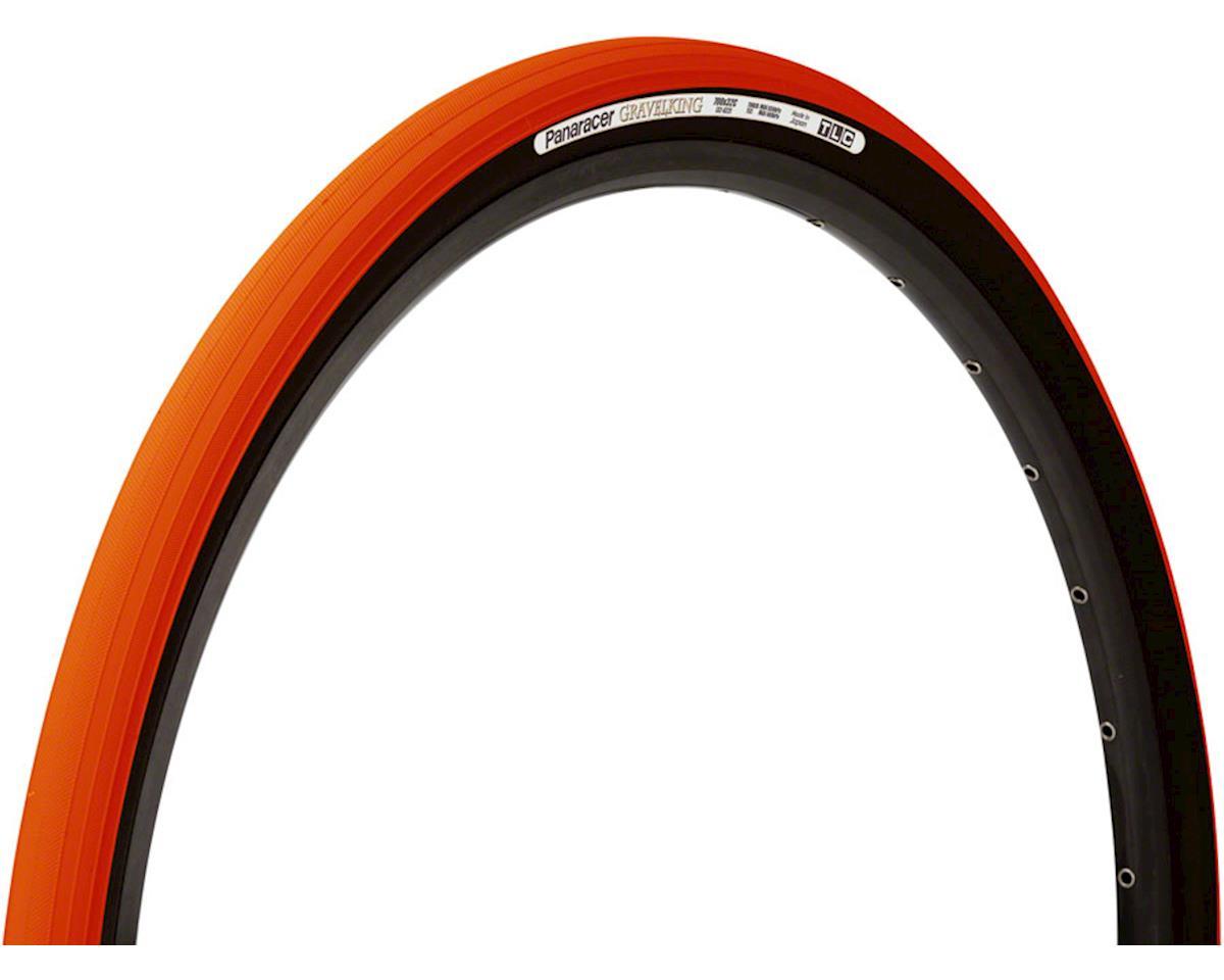 Panaracer Gravelking Tubeless Slick Tread Gravel Tire (Orange/Black) (700 x 38)