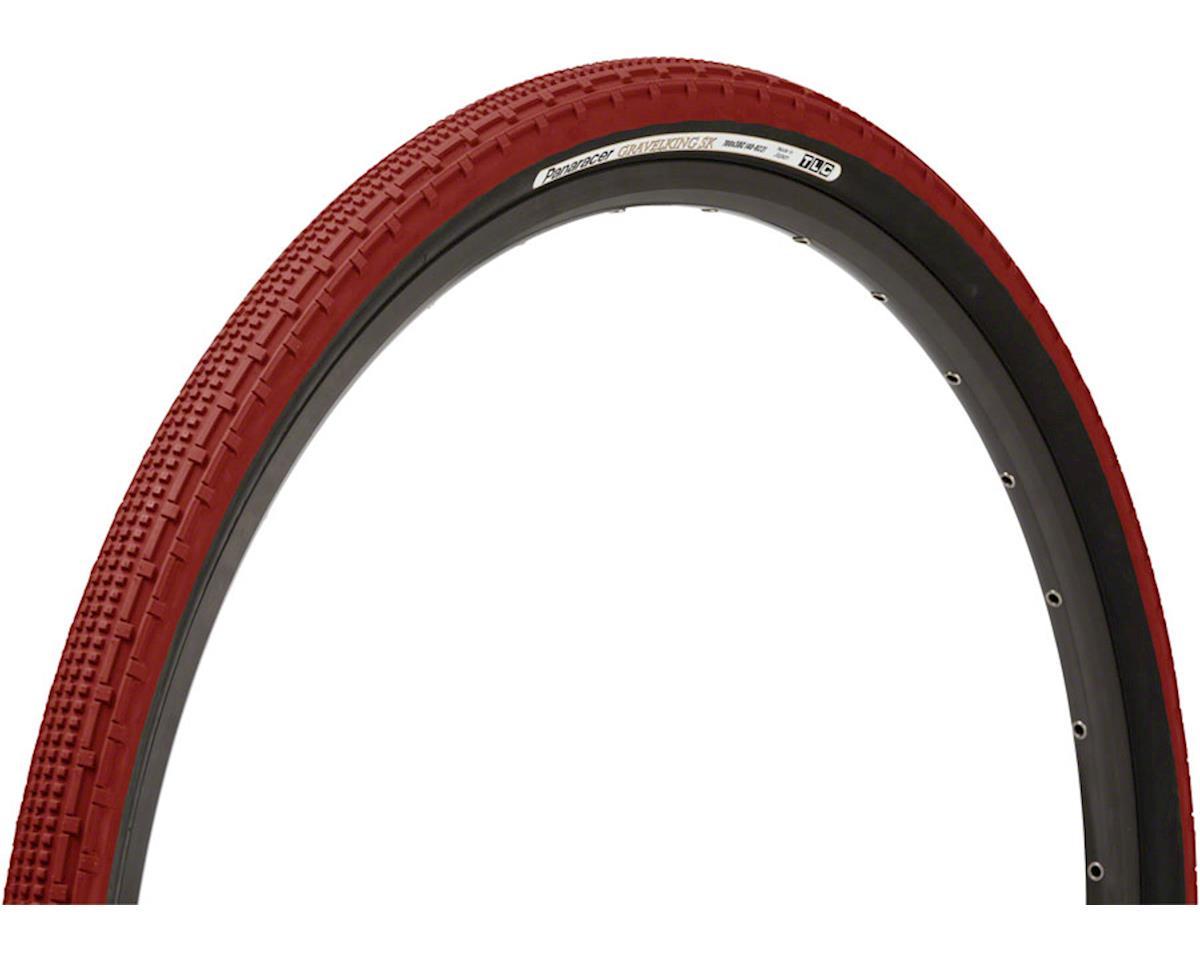 Panaracer Gravelking SK Tubeless Gravel Tire (Bordeaux/Black) (700 x 38)