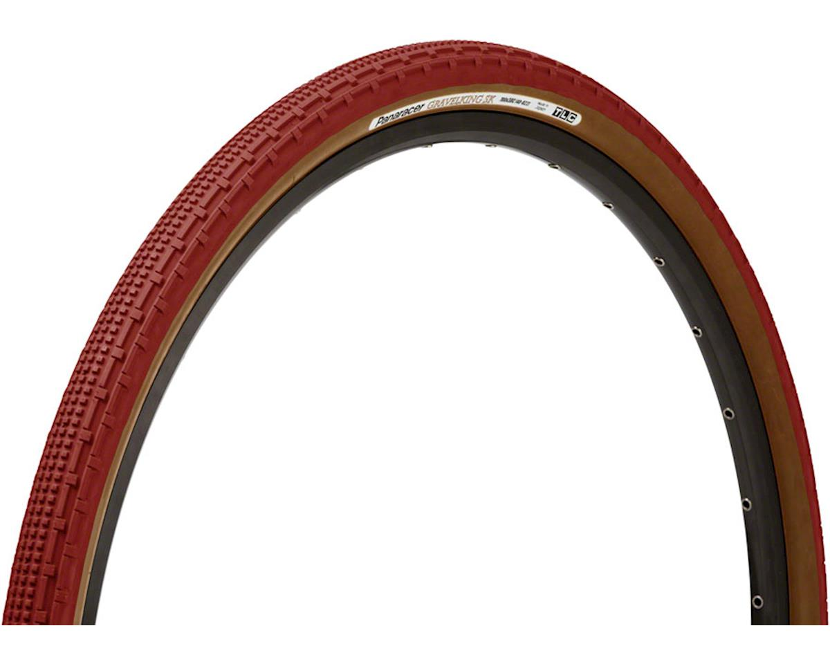 Panaracer Gravelking SK Tubeless Gravel Tire (Bordeaux/Brown) (700 x 38)