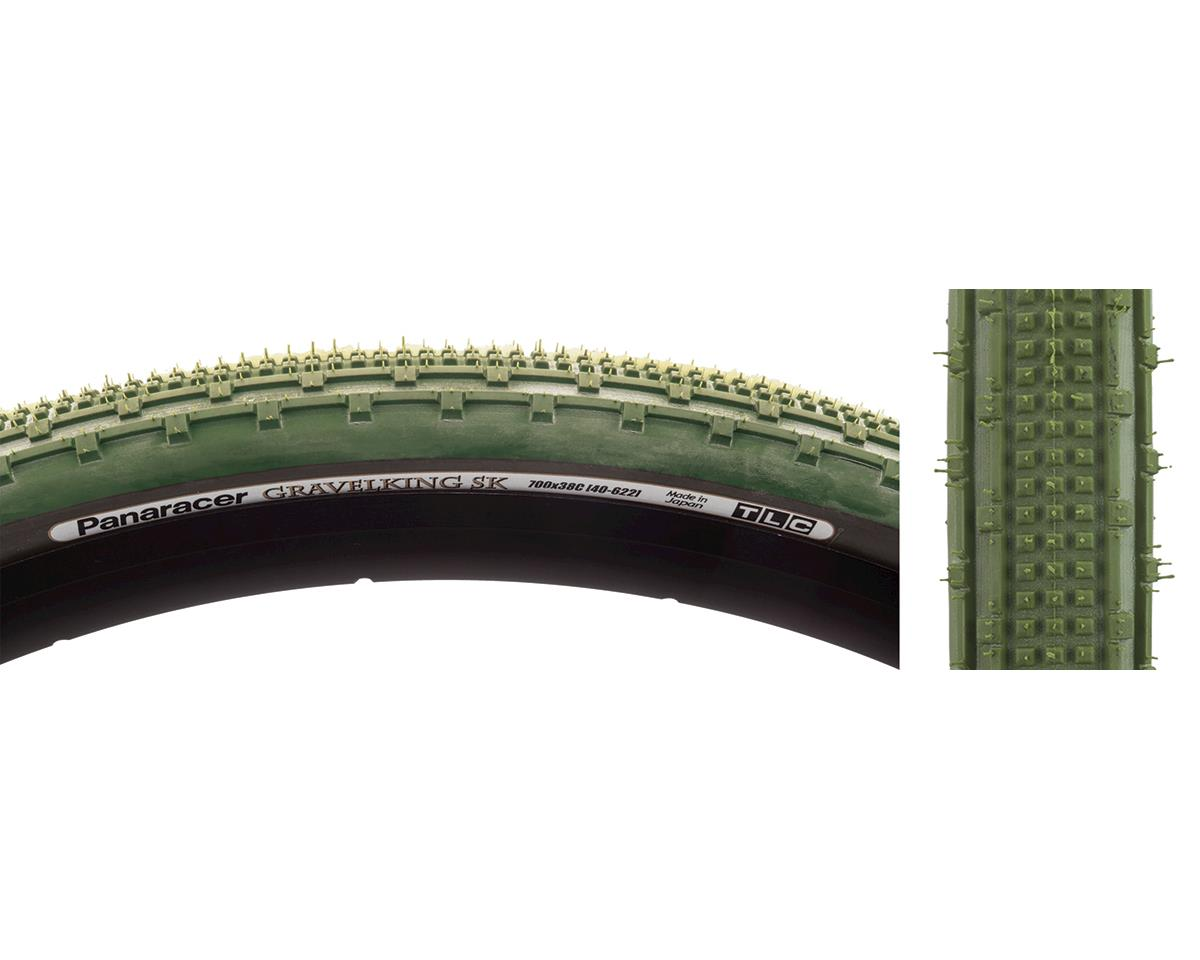 Panaracer Gravelking SK Tubeless Gravel Tire (Military Green/Black) (700 x 38)