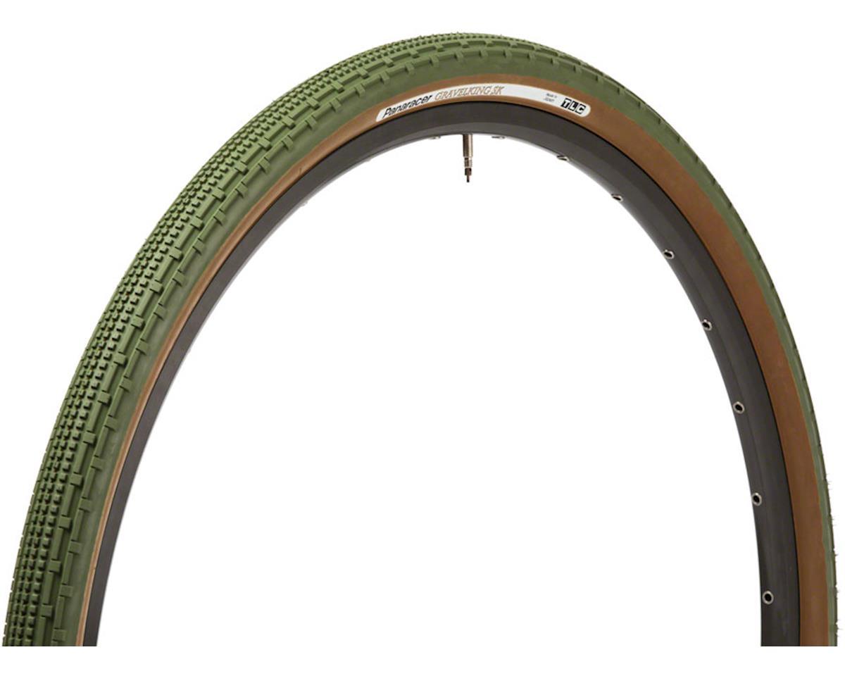 Panaracer Gravelking SK Tubeless Gravel Tire (Military Green/Brown) (700 x 38)
