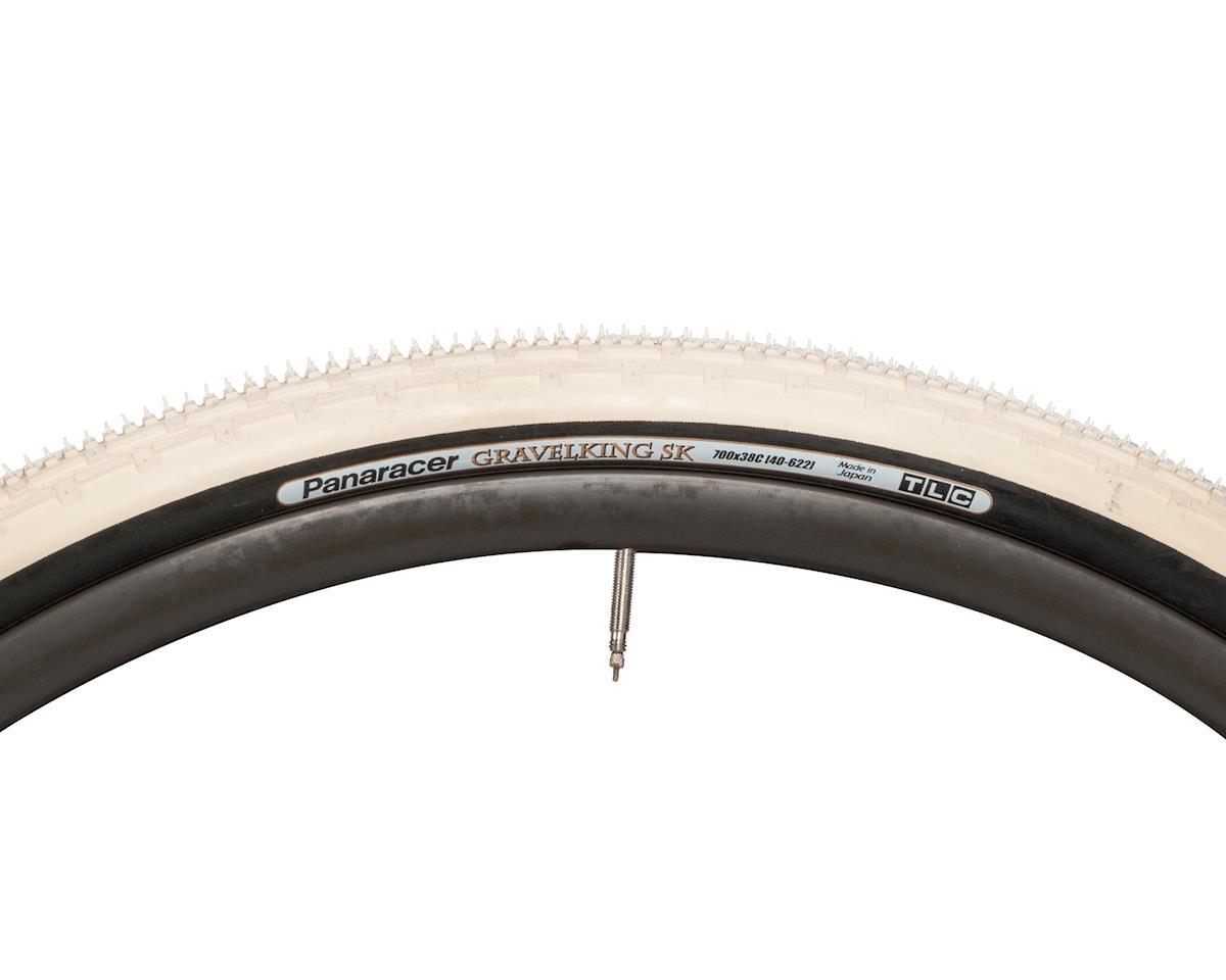 Panaracer Gravelking SK Tubeless Gravel Tire (Ivory White/Black) (700 x 38)