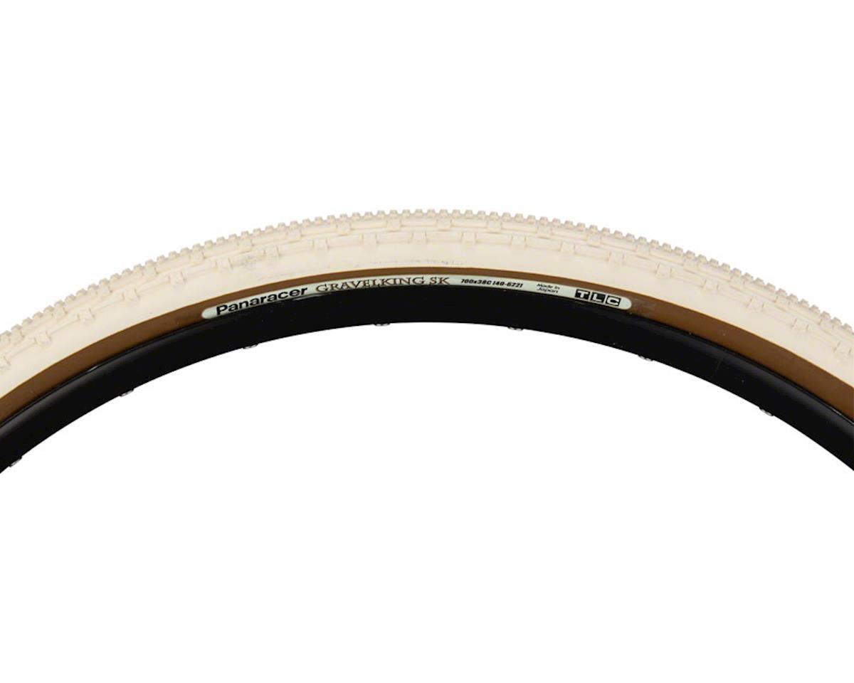 Panaracer Gravelking SK Tubeless Gravel Tire (Ivory White/Brown) (700 x 38)