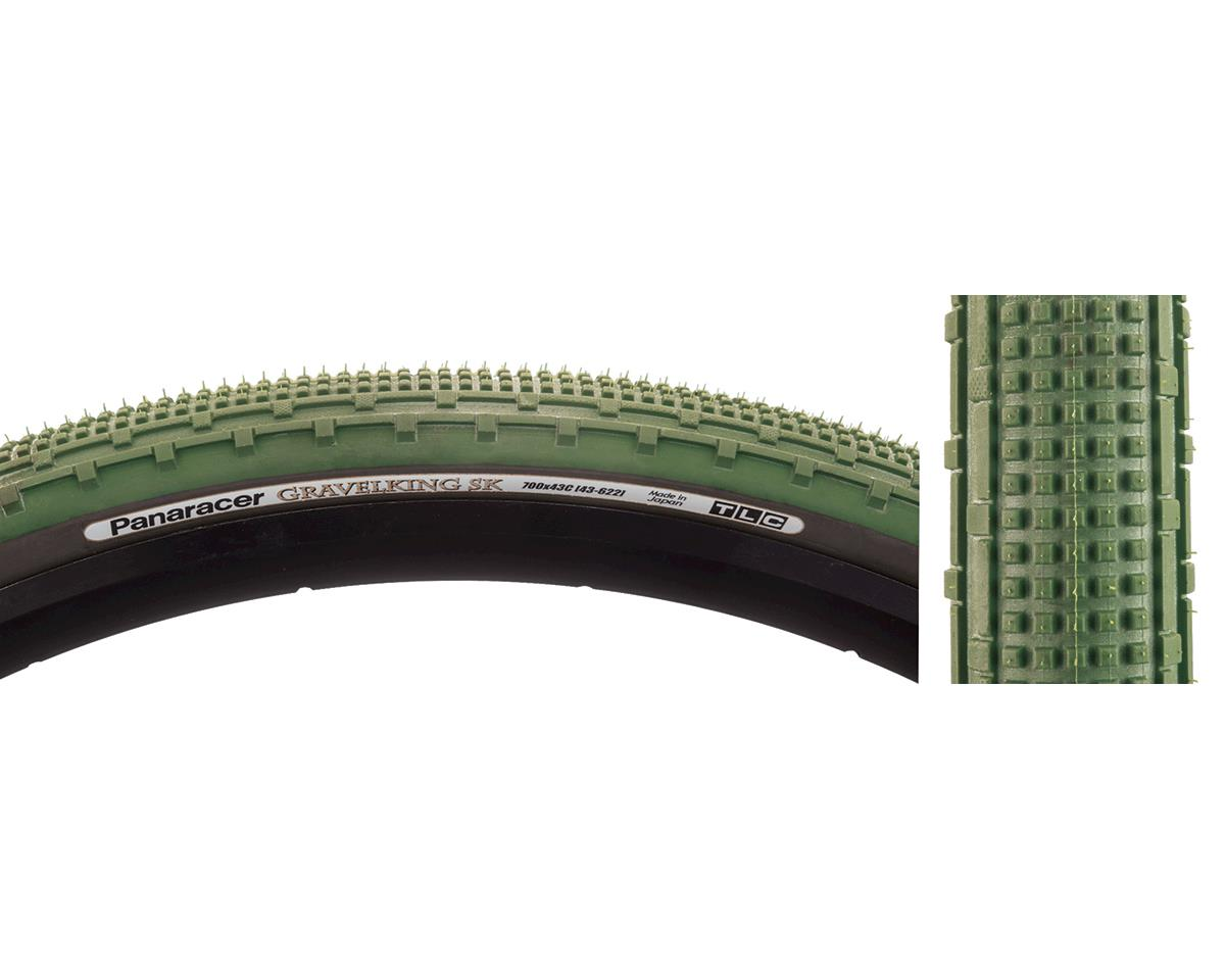 Panaracer Gravelking SK Tubeless Gravel Tire (Military Green/Black) (700 x 43)