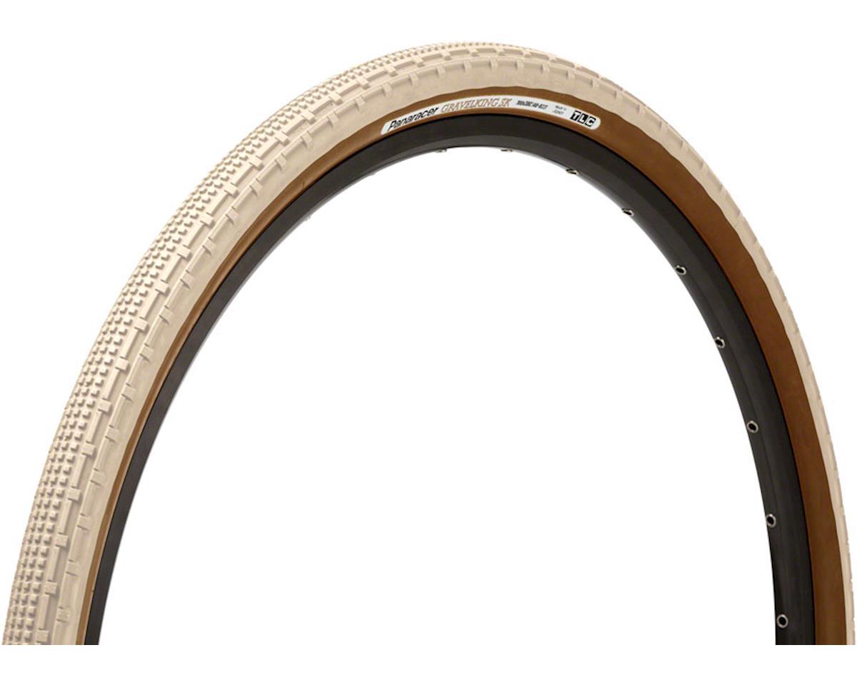 Panaracer Gravelking SK Tubeless Gravel Tire (Ivory White/Brown) (700 x 43)