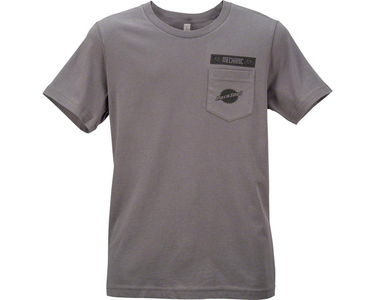 Park Tool Pocket T-Shirt: Gray, 2XL