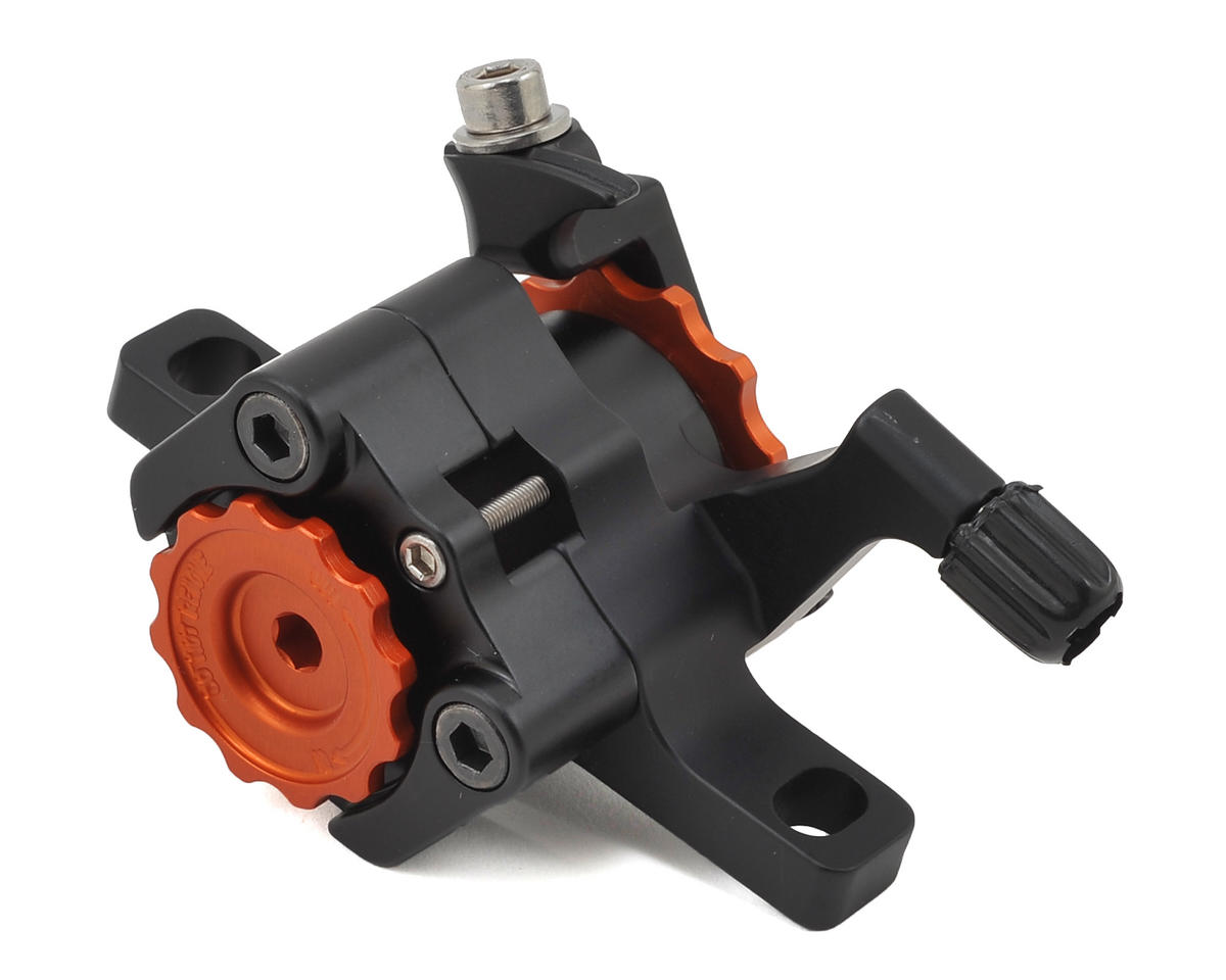 Paul Components Klamper Disc Brake Caliper (Black/Orange) (Short Pull)
