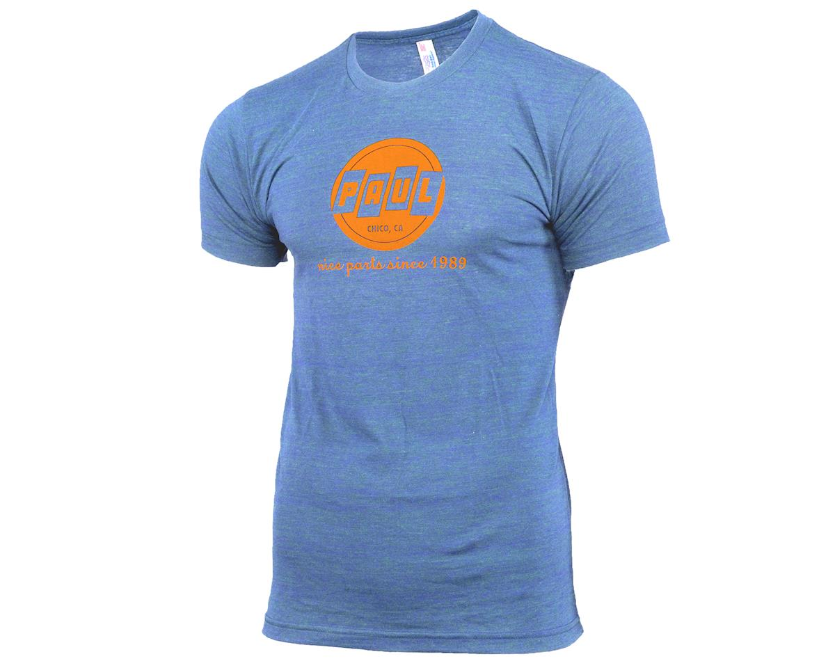 Paul Components Logo Tee Shirt (Heather Blue) (L)