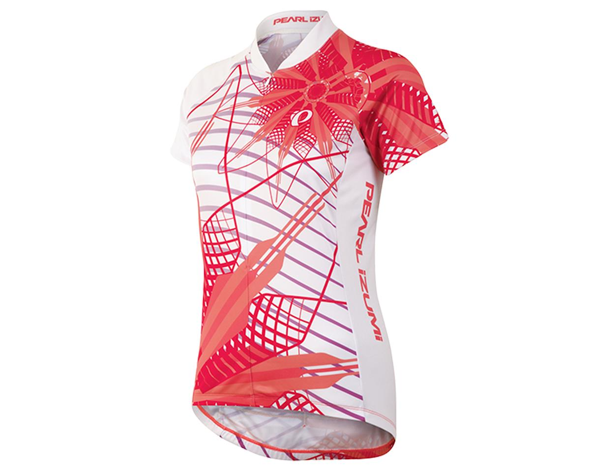 Pearl Izumi Women's Select LTD Cycling Jersey (Flower Living Coral)