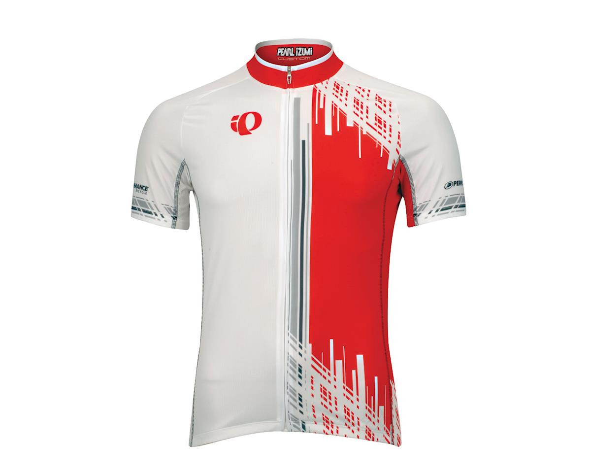 Pearl Izumi Team Short Sleeve Jersey - Performance Exclusive (Wh/Red)