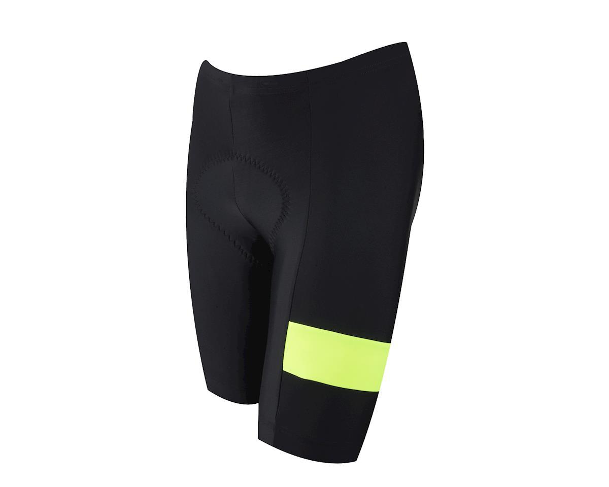 Pearl Izumi Quest Splice Shorts (Matte Black/High Vis) (L)