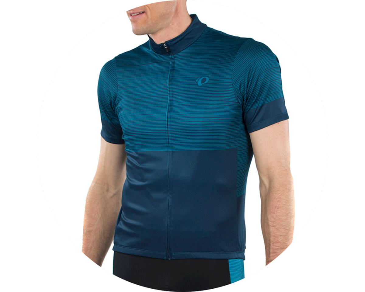 Pearl Izumi Select LTD Jersey (Navy/Teal stripes) (2XL)