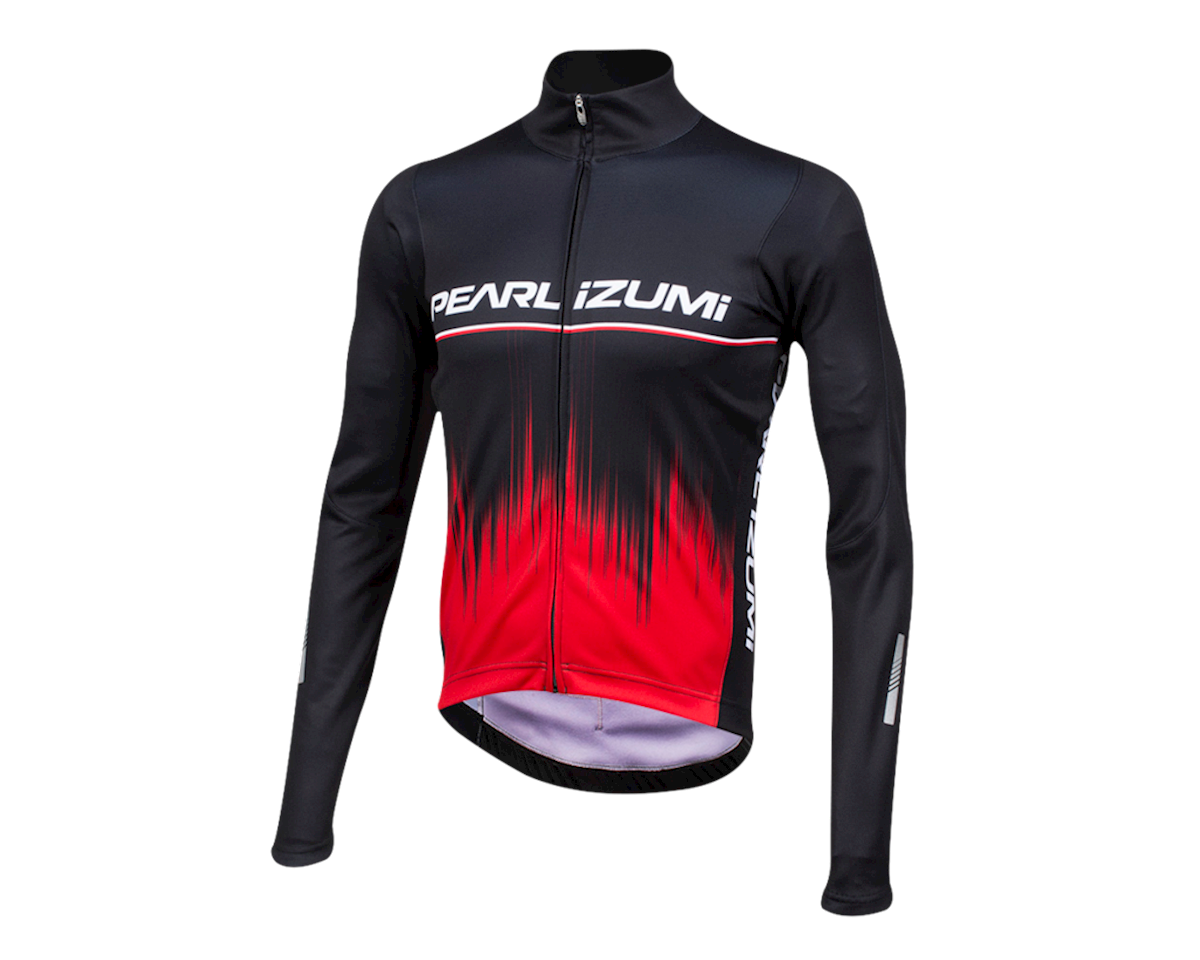 Pearl Izumi Elite Pursuit Thermal Graphic Jersey (True Red Rush)