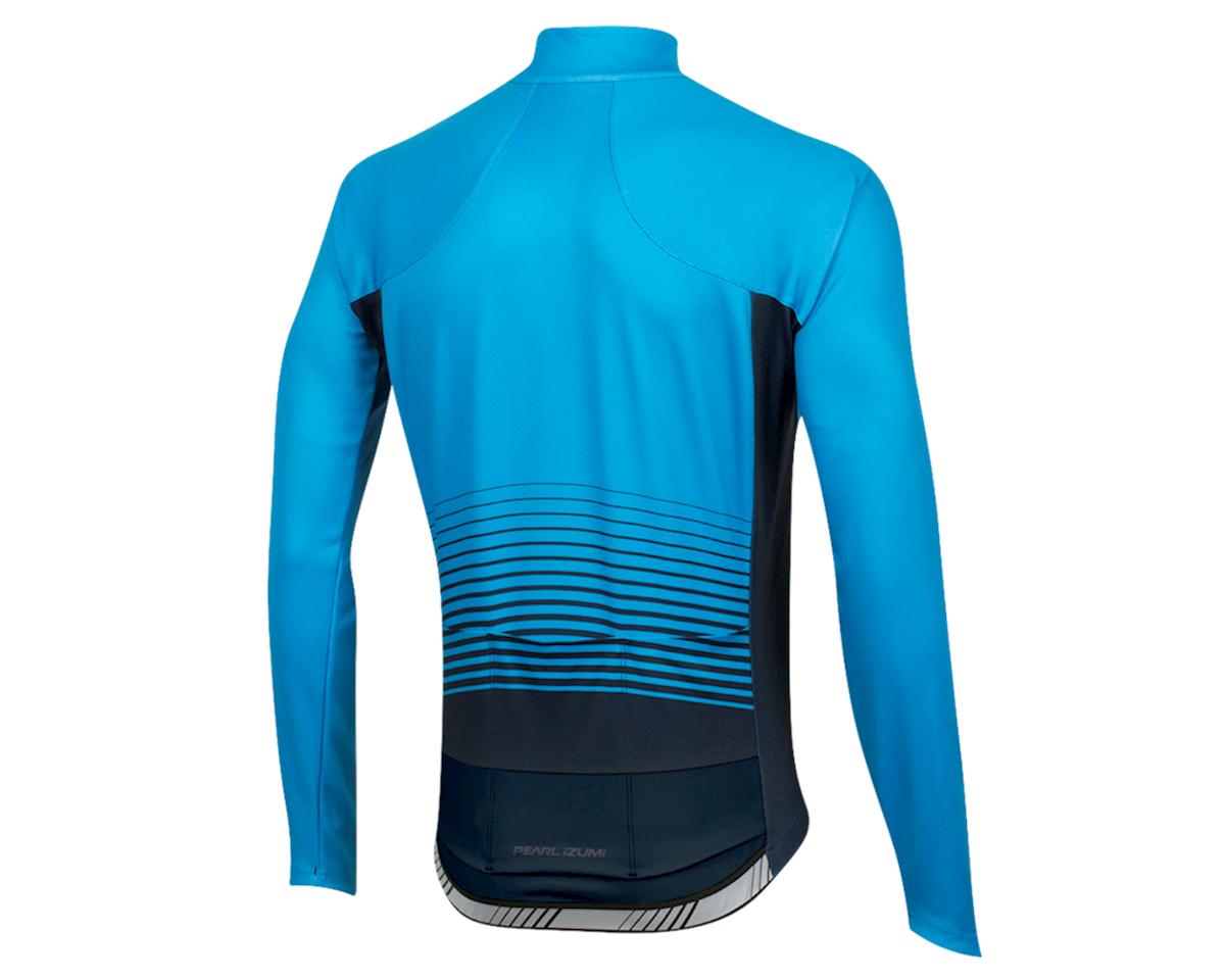 Pearl Izumi Elite Pursuit Thermal Graphic Jersey (Atomic Blue Diffuse) (L)