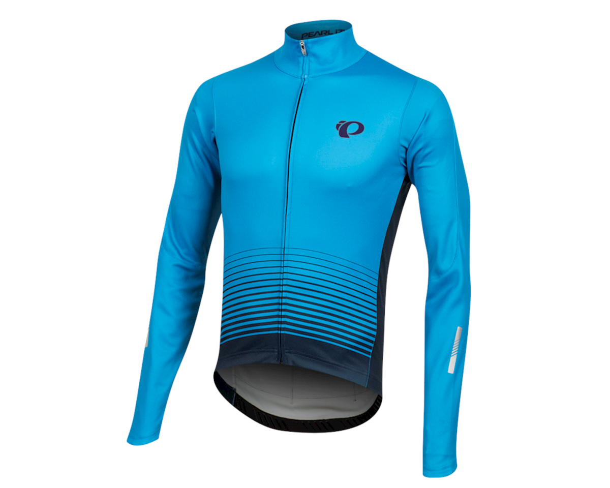 Pearl Izumi Elite Pursuit Thermal Graphic Jersey (Atomic Blue Diffuse) (S)