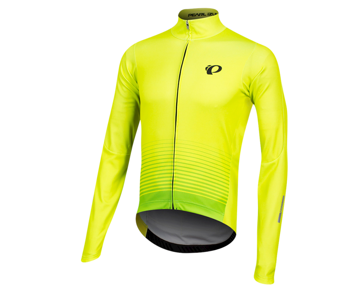 Pearl Izumi Elite Pursuit Thermal Graphic Jersey (Screaming Yellow Diffuse)