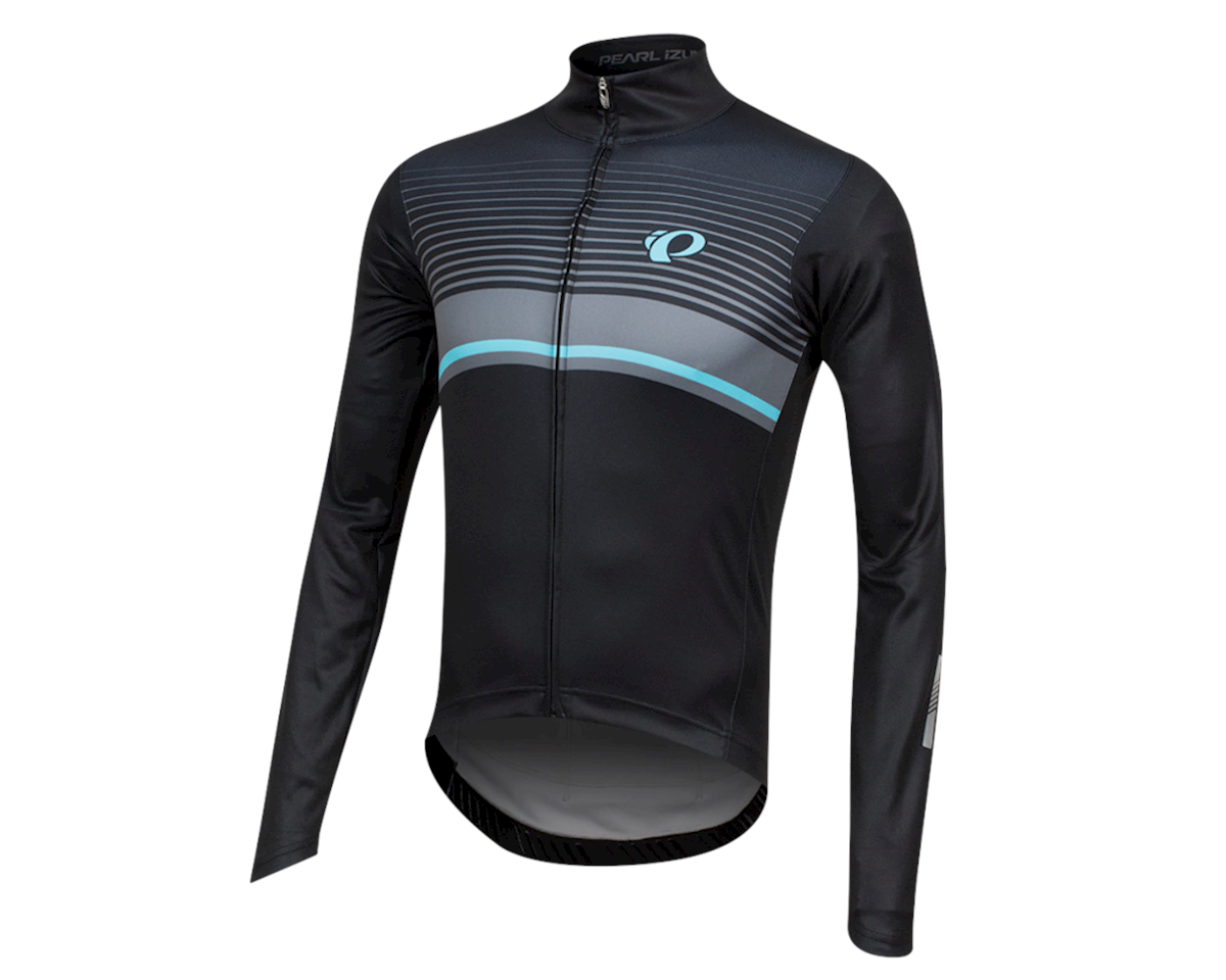 Pearl Izumi Elite Pursuit Thermal Graphic Jersey (Black/Smoked Pearl Diffuse)
