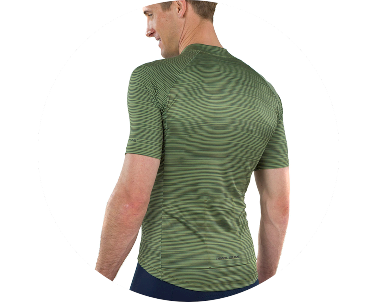 Pearl Izumi Elite Pursuit Graphic Short Sleeve Jersey (Willow/Forest Stripe) (S)