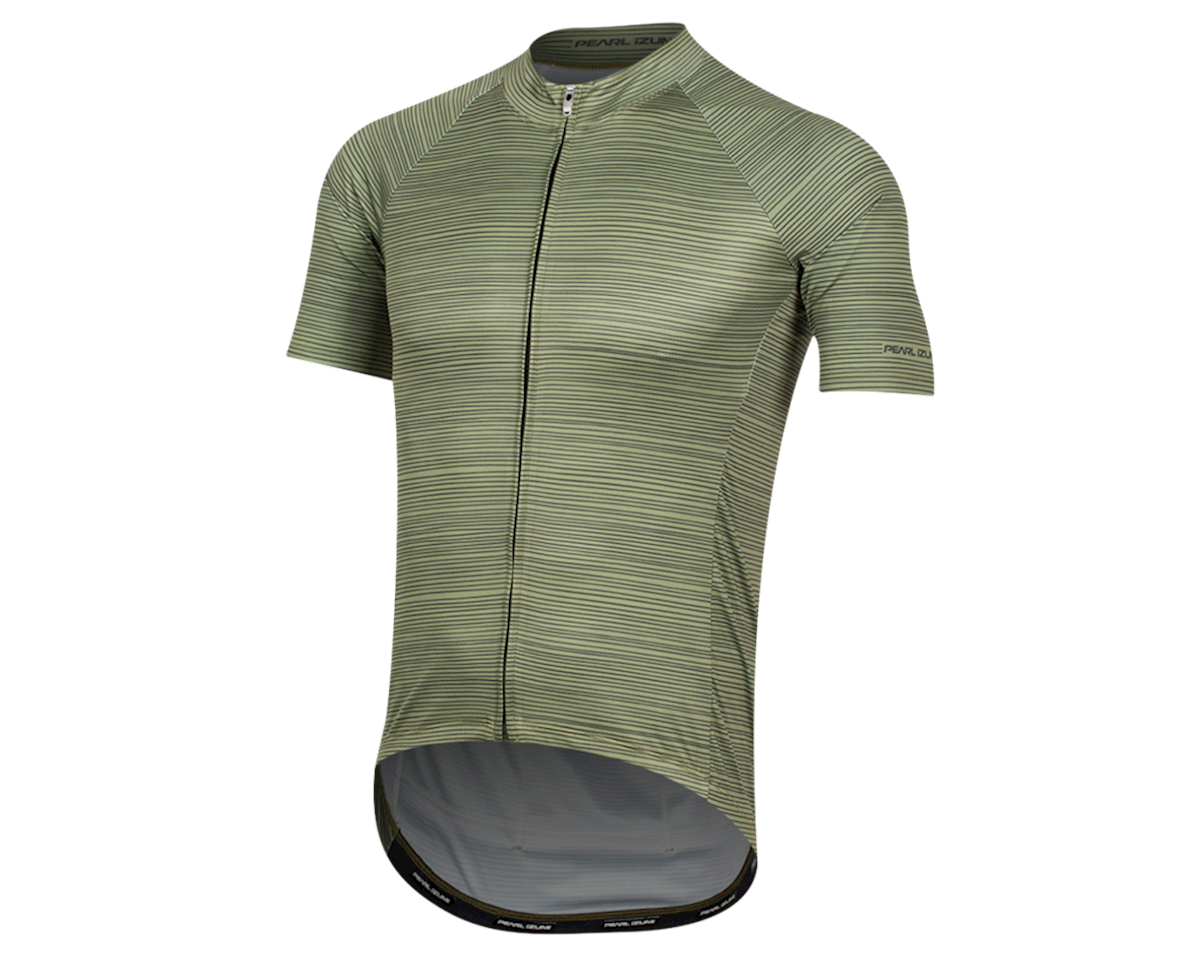 Pearl Izumi Elite Pursuit Graphic Short Sleeve Jersey (Willow/Forest Stripe) (2XL)
