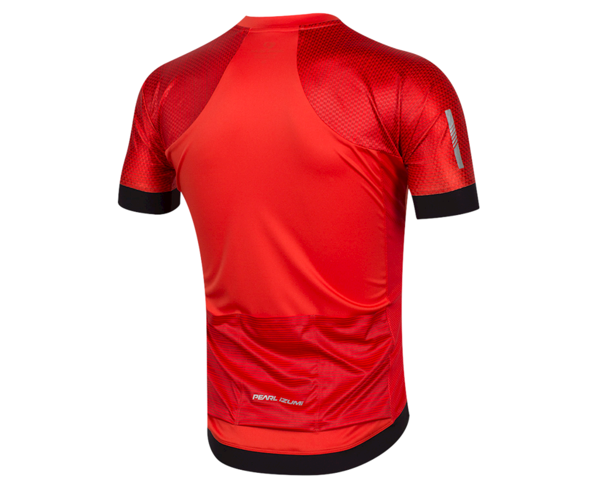 Pearl Izumi Elite Pursuit Graphic Short Sleeve Jersey (Torch Red Stripe) (S)