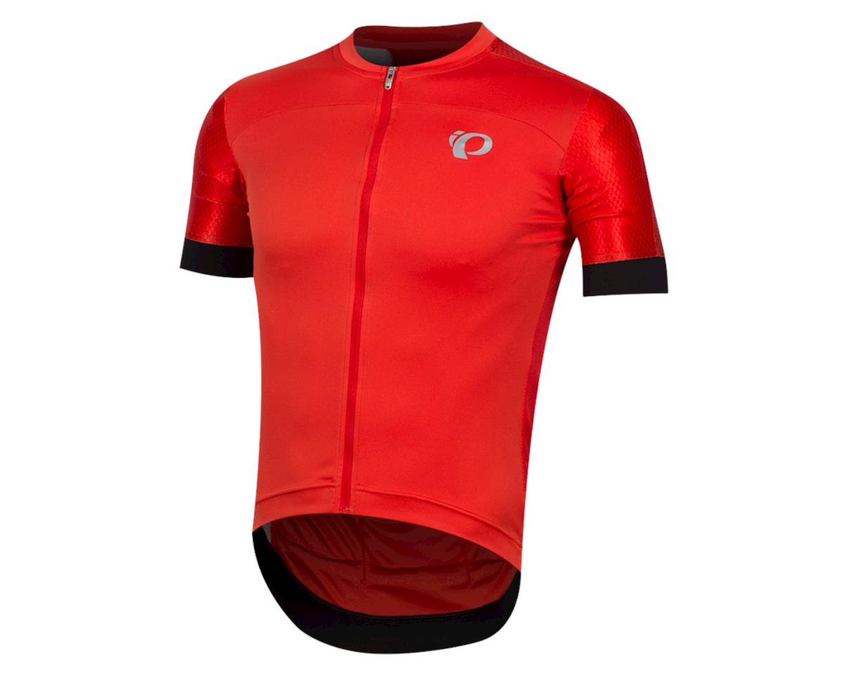 Pearl Izumi Elite Pursuit Graphic Short Sleeve Jersey (Torch Red Stripe) (2XL)