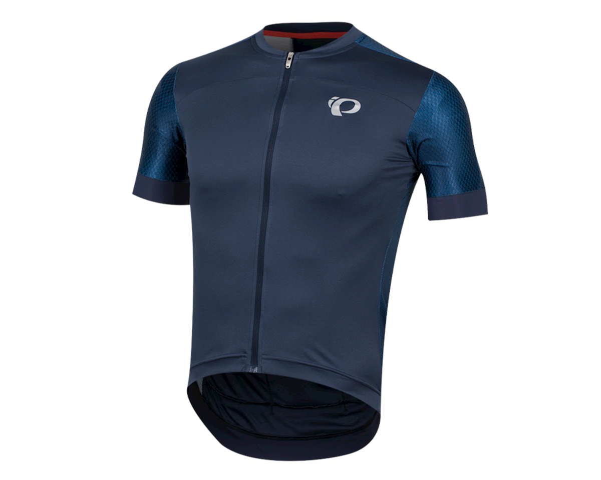 Pearl Izumi Elite Pursuit Graphic Short Sleeve Jersey (Navy Stripe) (2XL)