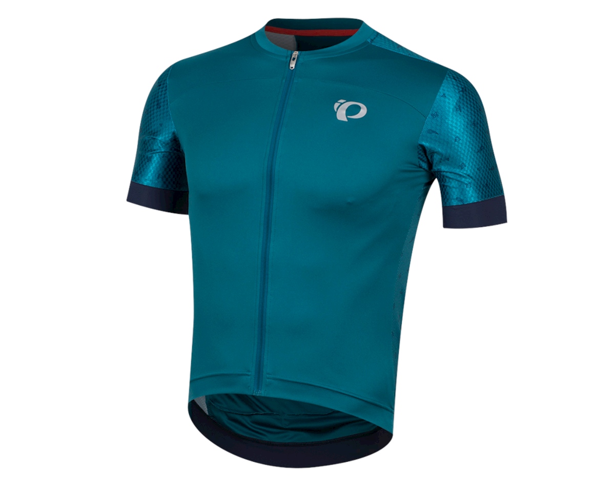 Pearl Izumi Elite Pursuit Speed Short Sleeve Jersey (Teal/Navy Paisley)